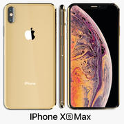 Iphone XS Max goud 3d model