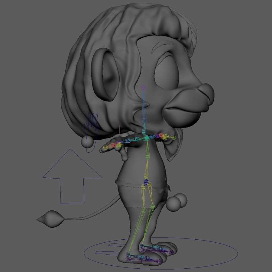 Lion Cartoon royalty-free 3d model - Preview no. 14