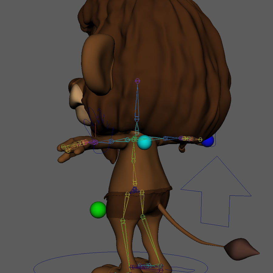 Lion Cartoon royalty-free 3d model - Preview no. 12