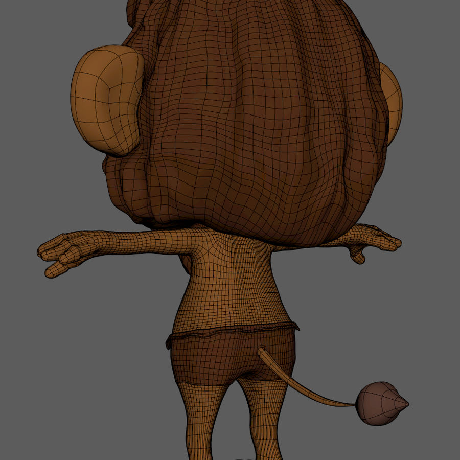 Lion Cartoon royalty-free 3d model - Preview no. 9