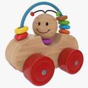 Drewniany samochód 3d model