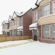 Winter House Scene 3d model