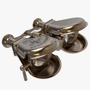 Jumelles nautiques en laiton 3d model