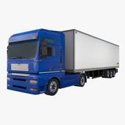 Caminhão com reboque 3d model