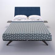 Hepburn Queen Bed 3d model