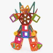 Magnetic Blocks Robot 3D Model 3d model