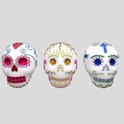 Ölü Şeker Kafatasları Günü 3d model