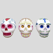 Sugar Skulls Day of the Dead 3d model