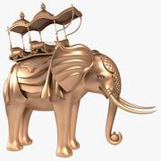 Elefante com Howdah 3d model