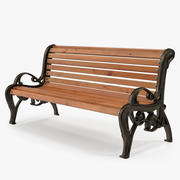 Klasyczna ławka parkowa 3d model