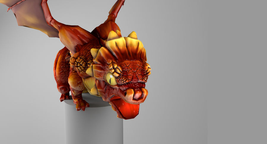 Dragon Baby royalty-free 3d model - Preview no. 7