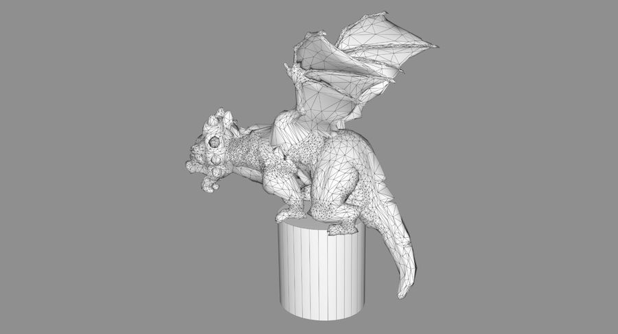 Dragon Baby royalty-free 3d model - Preview no. 12