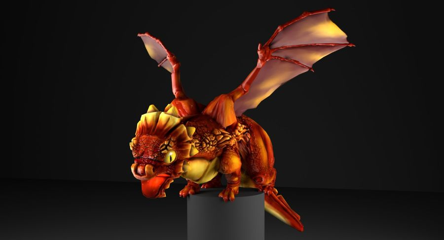Dragon Baby royalty-free 3d model - Preview no. 2