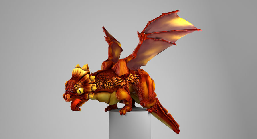Dragon Baby royalty-free 3d model - Preview no. 6