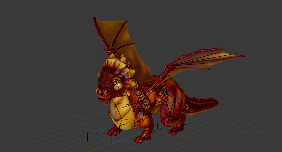 Dragon Baby royalty-free 3d model - Preview no. 8