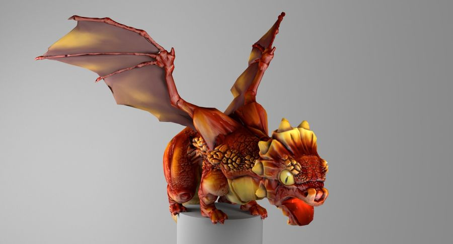 Dragon Baby royalty-free 3d model - Preview no. 5
