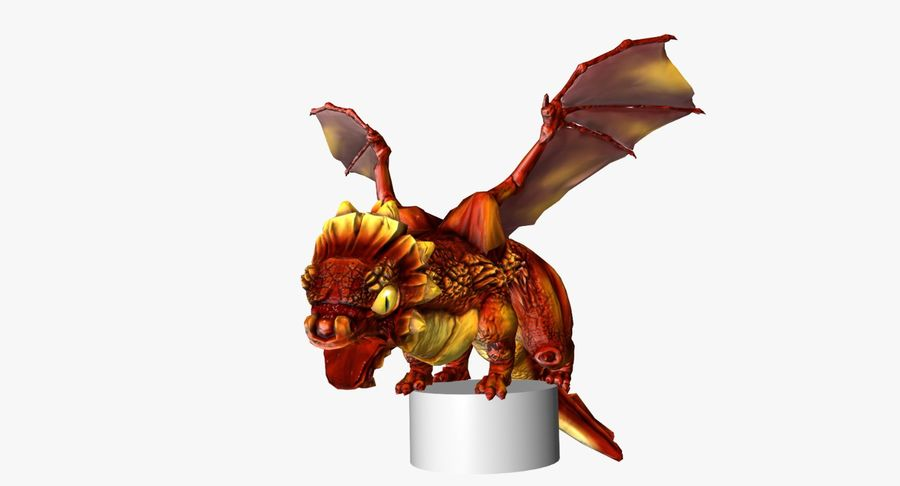 Dragon Baby royalty-free 3d model - Preview no. 1