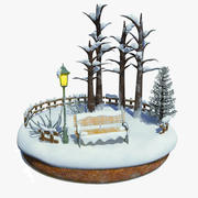 Schneelandschaft Weihnachten T 3d model