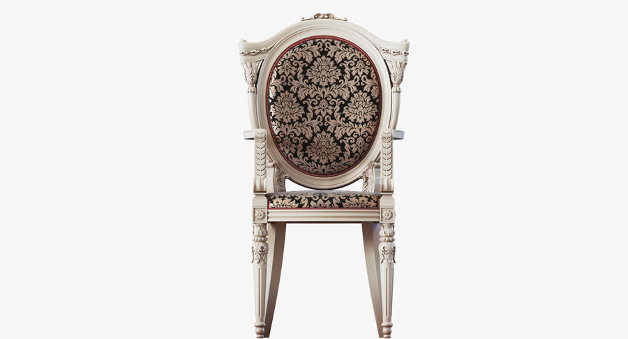 Baroque Chair royalty-free 3d model - Preview no. 20
