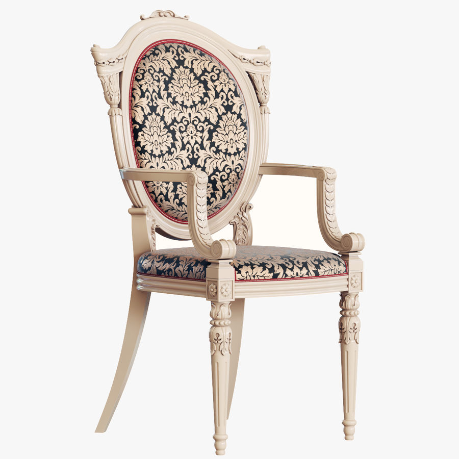 Baroque Chair royalty-free 3d model - Preview no. 1