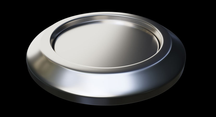 Reset Button Nickel royalty-free 3d model - Preview no. 10