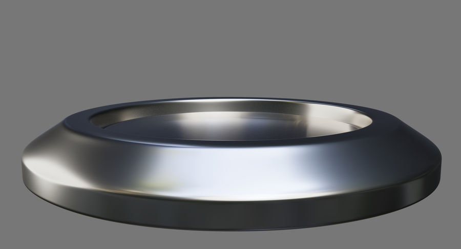 Reset Button Nickel royalty-free 3d model - Preview no. 8