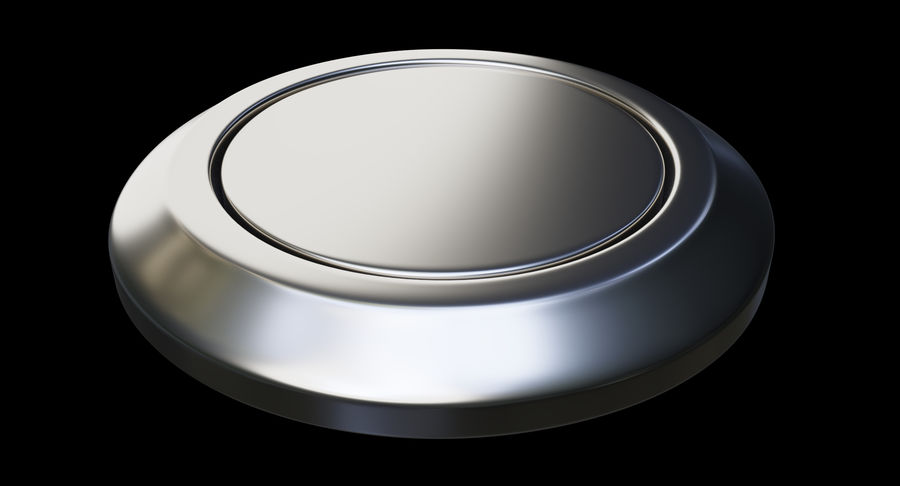 Reset Button Nickel royalty-free 3d model - Preview no. 9
