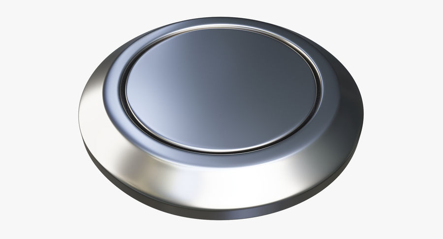 Reset Button Nickel royalty-free 3d model - Preview no. 3