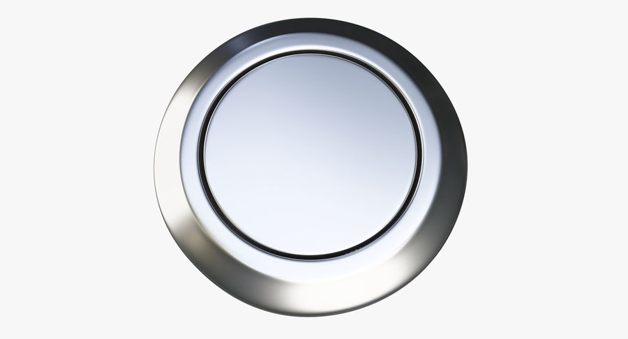 Reset Button Nickel royalty-free 3d model - Preview no. 5