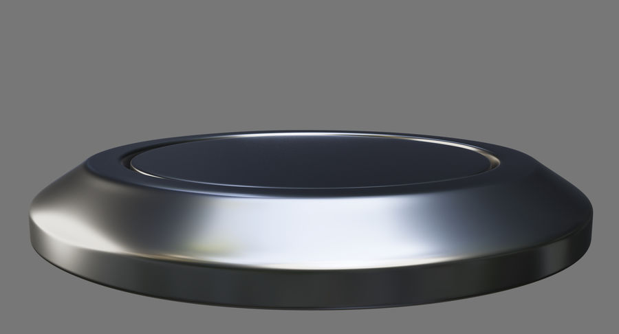 Reset Button Nickel royalty-free 3d model - Preview no. 7
