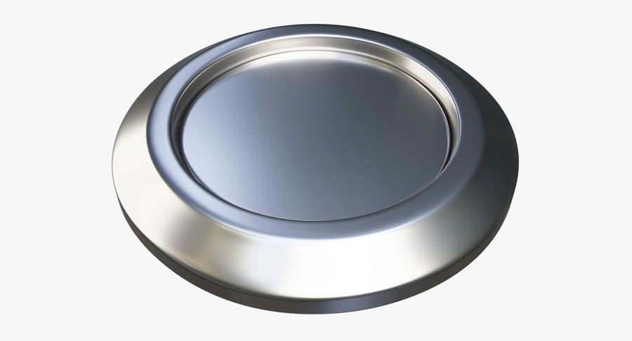 Reset Button Nickel royalty-free 3d model - Preview no. 4