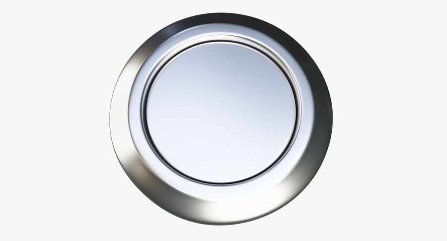 Reset Button Nickel royalty-free 3d model - Preview no. 6