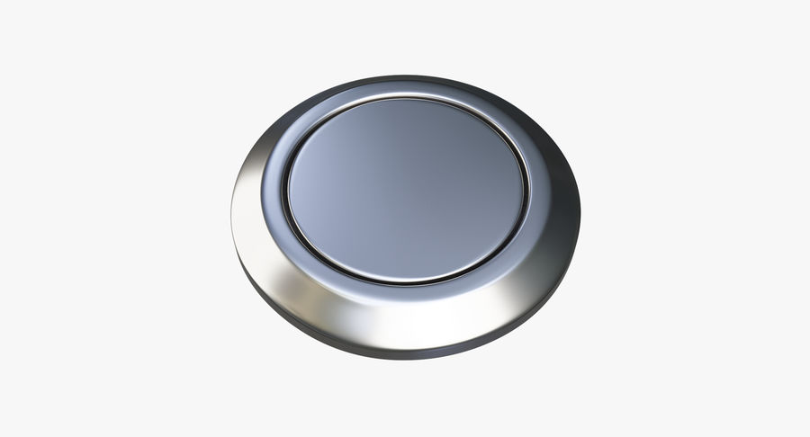 Reset Button Nickel royalty-free 3d model - Preview no. 2
