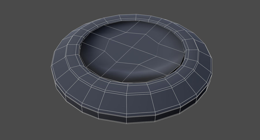 Reset Button Nickel royalty-free 3d model - Preview no. 13