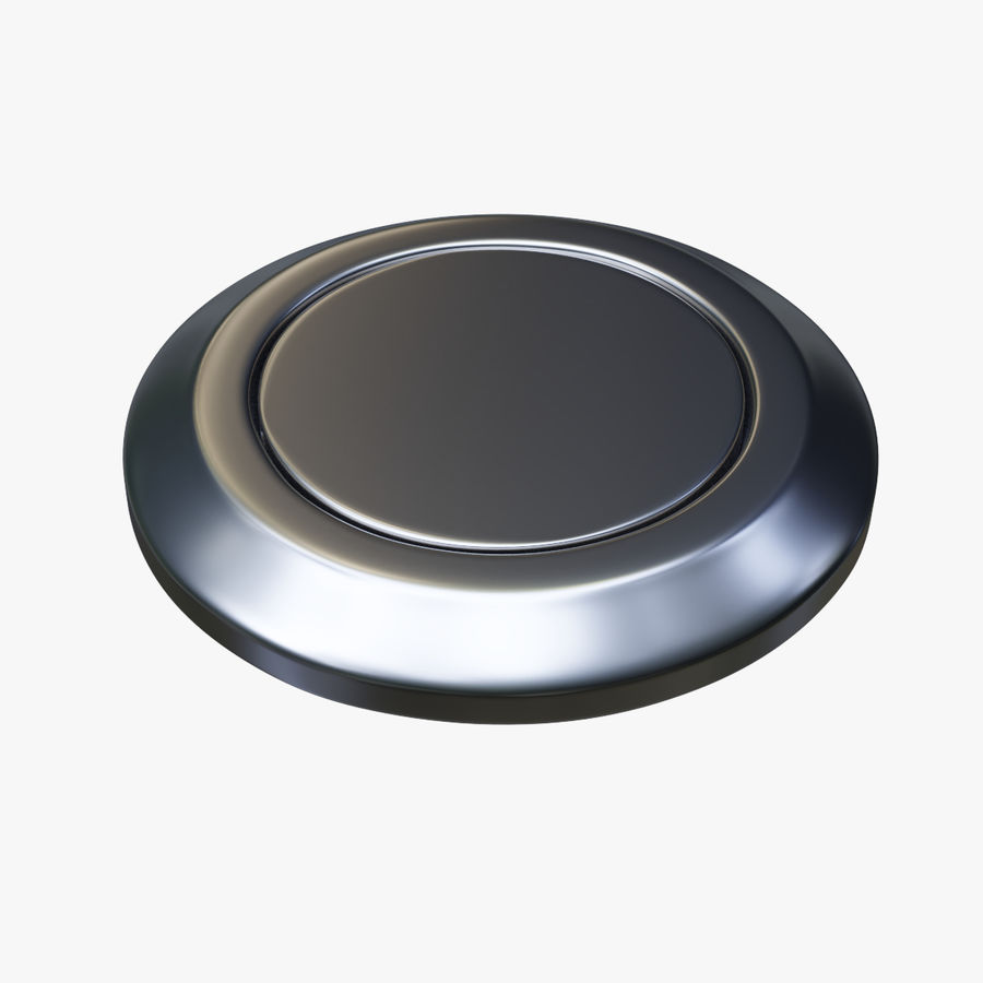 Reset Button Nickel royalty-free 3d model - Preview no. 1