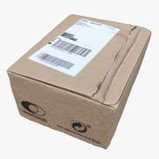 Boîte en carton 01 3d model