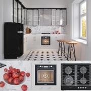 Cuisine industrielle avec des appareils ménagers modèle 3D Kitchen Aid 3d model