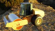 construcción de carreteras vehículo contratista vibratorio modelo 3D modelo 3d