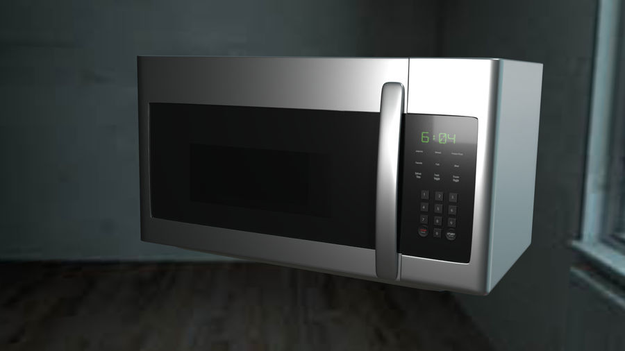 appareil de cuisine à micro-ondes royalty-free 3d model - Preview no. 8