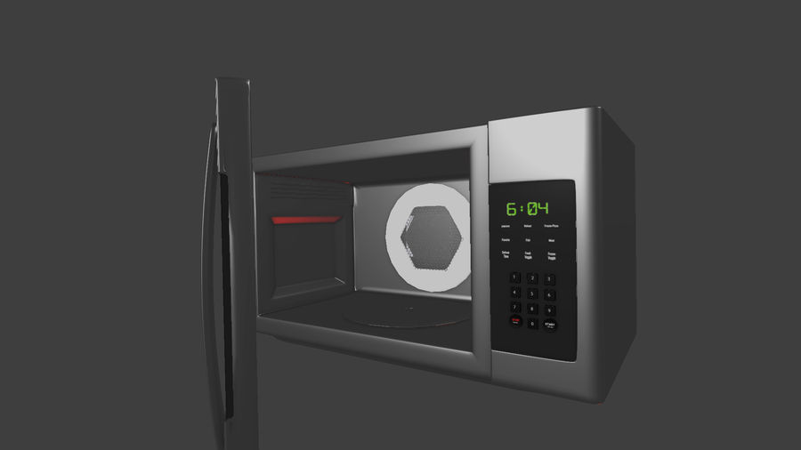 appareil de cuisine à micro-ondes royalty-free 3d model - Preview no. 1