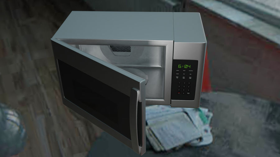 appareil de cuisine à micro-ondes royalty-free 3d model - Preview no. 4