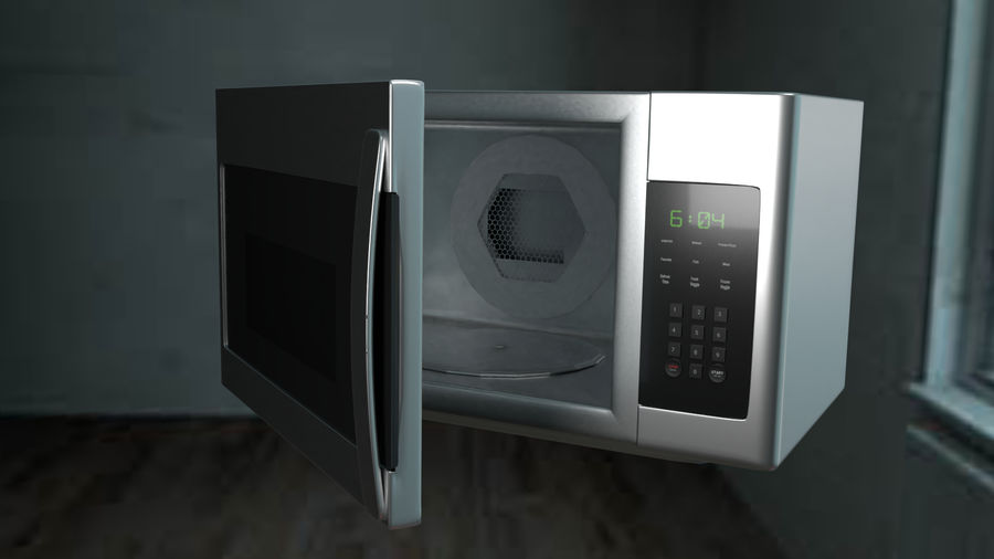 appareil de cuisine à micro-ondes royalty-free 3d model - Preview no. 9