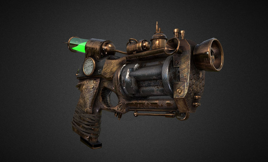 steampunk royalty-free 3d model - Preview no. 2