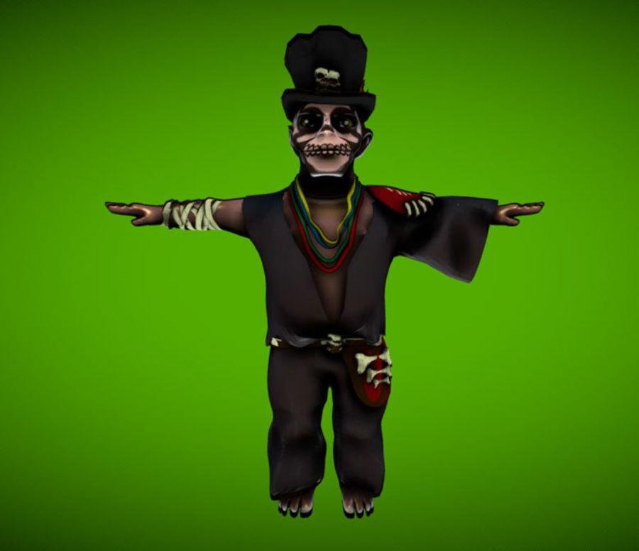 VOODOO MAGICIAN royalty-free 3d model - Preview no. 1