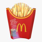 Макдональдс Соленый картофель фри 3d model
