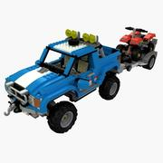 LEGO OffRoad Car 3d model
