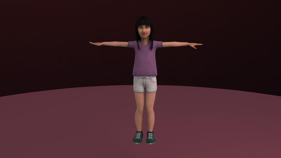 Genç kız royalty-free 3d model - Preview no. 7