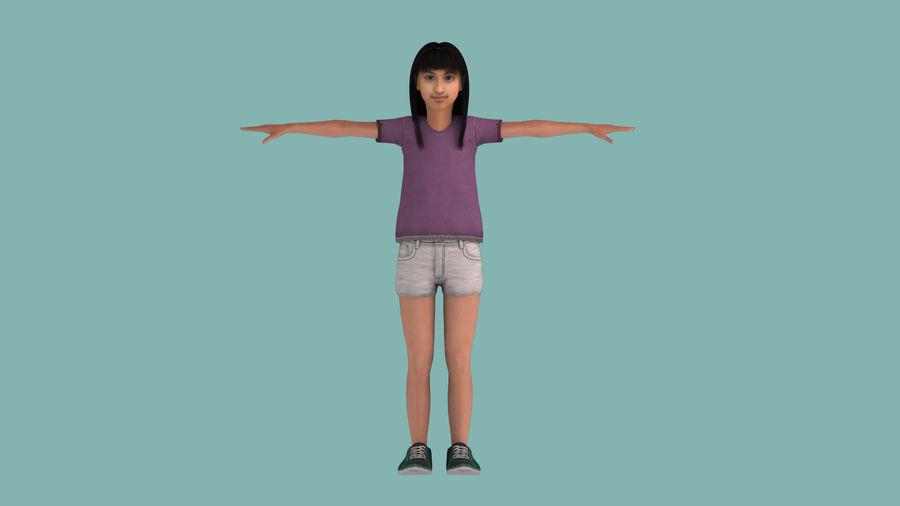 Genç kız royalty-free 3d model - Preview no. 1