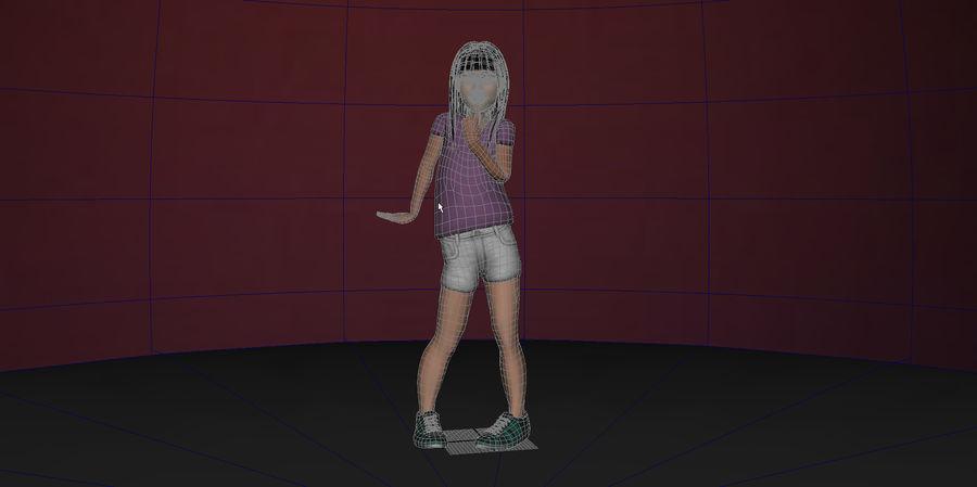 Genç kız royalty-free 3d model - Preview no. 3
