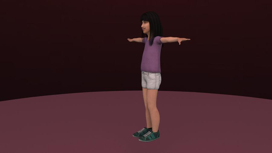 Genç kız royalty-free 3d model - Preview no. 8